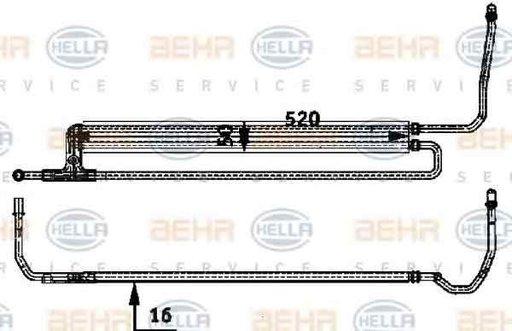 Radiator racire ulei sistem directie BMW 6 E63 HELLA 8MO 376 726-351