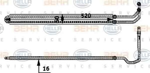 Radiator racire ulei sistem directie BMW 6 E63 HELLA 8MO 376 726-331