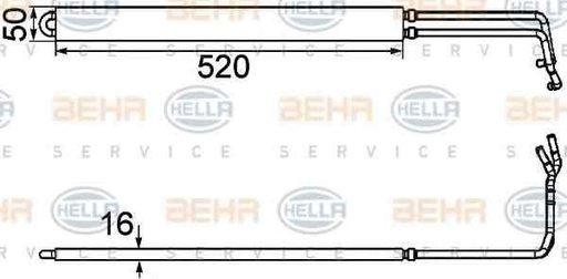 Radiator racire ulei sistem directie OPEL INSIGNIA HELLA 8MO 376 754-291