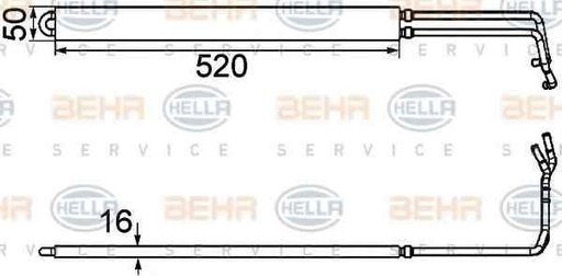 Radiator racire ulei sistem directie VAUXHALL INSIGNIA limuzina HELLA 8MO 376 754-291