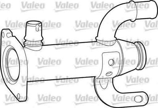 Radiator recirculare gaze de esapament PEUGEOT 607 9D 9U VALEO 817753