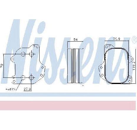 Radiator ulei, ulei motor VW GOLF VI CABRIOLET ( 517 ) 03/2011 - 2019 - producator NISSENS 90745 - 309158 - Piesa Noua
