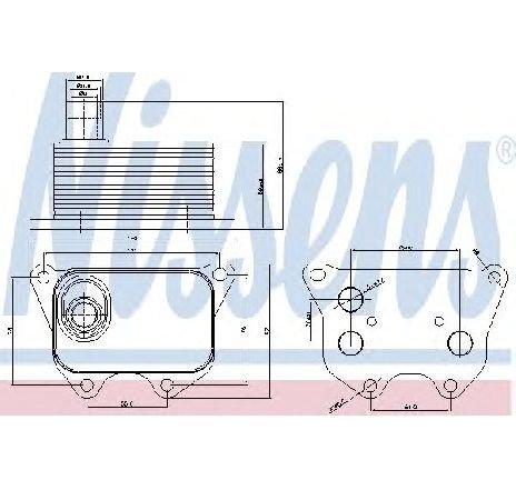 Radiator ulei, ulei motor VW GOLF VI VARIANT ( AJ5 ) 07/2009 - 07/2013 - producator NISSENS 90659 - 308442 - Piesa Noua
