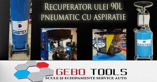 Recuperator de ulei Pneumatic cu Aspirație 90L