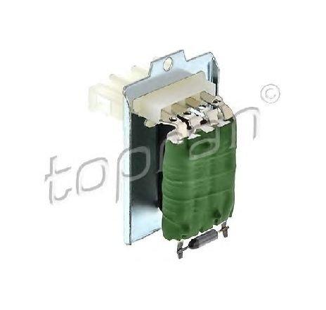 Rezistor, ventilator habitaclu SEAT ALHAMBRA ( 7V8, 7V9 ) 04/1996 - 03/2010 - producator TOPRAN 104 116 - 301564 - Piesa Noua