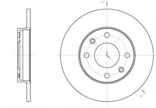 Roadhouse set 2discuri frana fata cu r247mm,4gauri plin