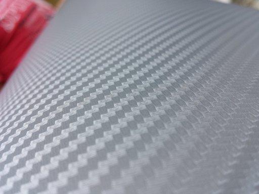 Rola folie carbon 3D argintie latime 1.27m x 30m