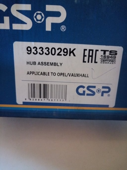 Rulment fata Opel Astra G/zafira A