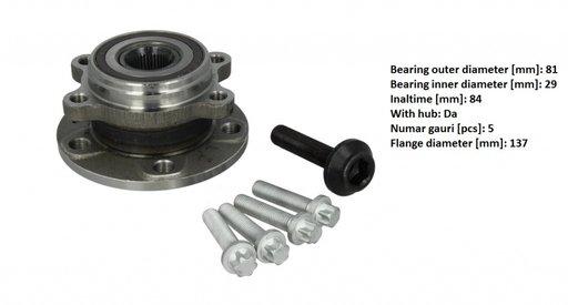Rulment roata fata stg / dr cu senzor ABS integrat , pentru Audi , Skoda , VW , Seat 2004 - 2015