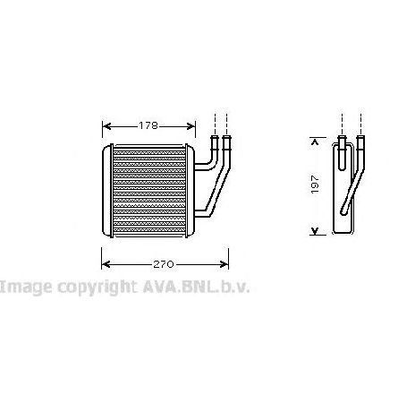 Schimbator caldura, incalzire habitaclu SEAT ALHAMBRA ( 7V8, 7V9 ) 04/1996 - 03/2010 - producator AVA QUALITY COOLING VW6203 - 301564 - Piesa Noua