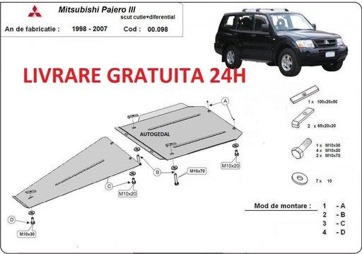 Scut metalic 2mm cutie de viteze si diferential Mitshubishi Pajero Sport 1 1998-2007 COD:00.098