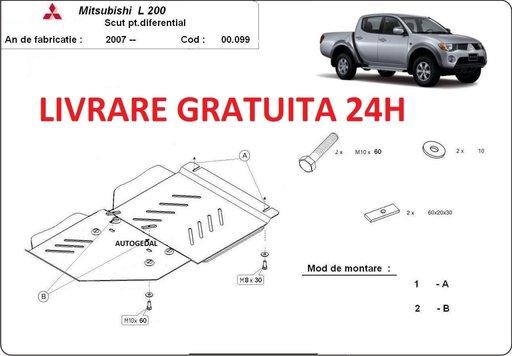 Scut metalic 2mm grosime cutie de viteze si diferential Mitsubishi L200 2007-2015 COD:00.099