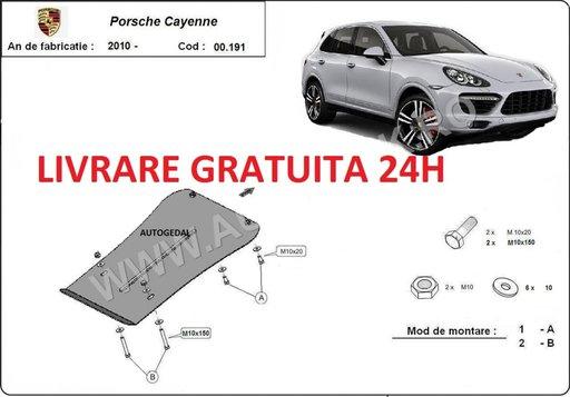 Scut metalic otel 2mm cutie de viteze Porsche Cayenne 2010-prezent COD:00.191