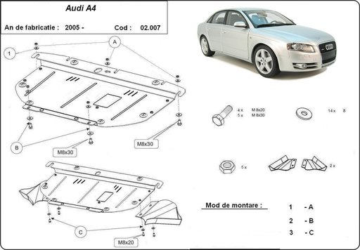 Scut motor Audi A4 2005-2008