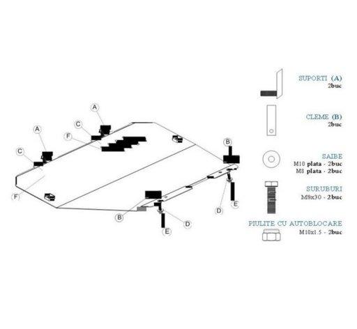 Scut motor metal plus accesorii Opel Astra H