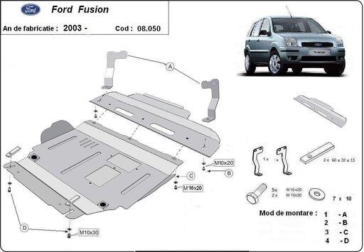 Scut motor metalic Ford Fusion