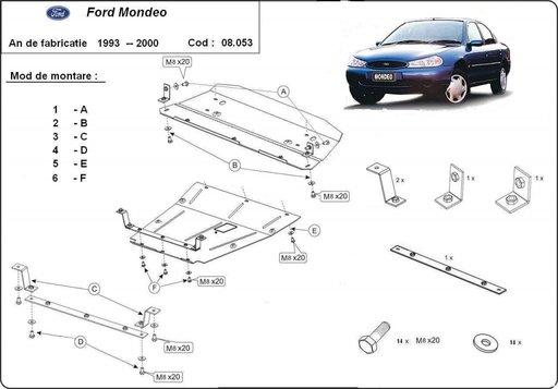 Scut motor metalic Ford Mondeo 1993 - 2000
