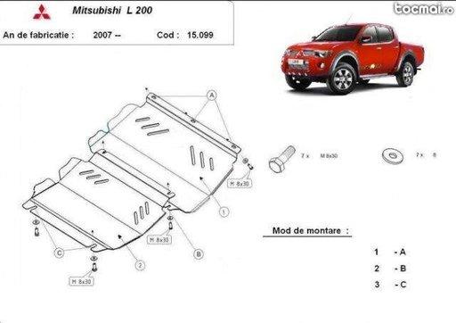Scut motor metalic MITSUBISHI L200 -produs nou