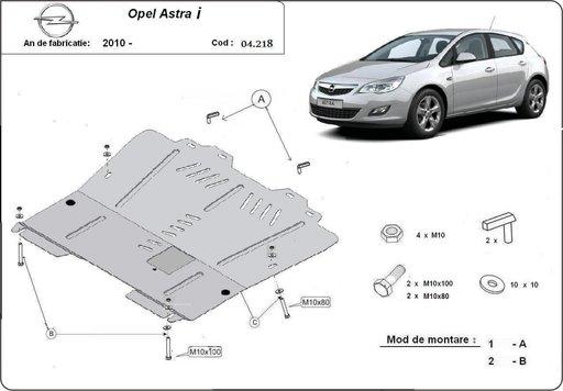 Scut motor metalic Opel Astra I si Astra J dupa 20