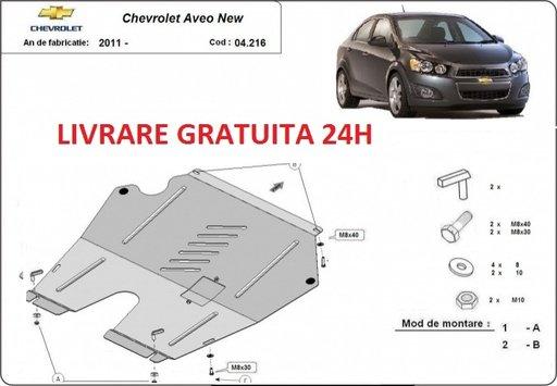 Scut motor metalic otel 2 mm Chevrolet Aveo 2011-prezent COD:04.216