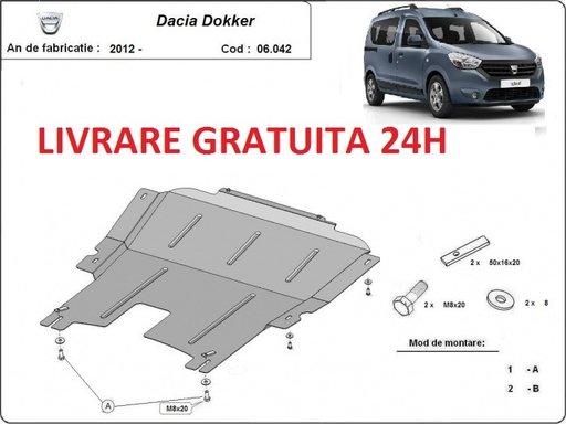 Scut motor metalic otel 2 mm Dacia Dokker 2012-prezent COD: 06.042