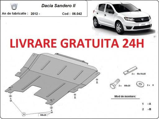 Scut motor metalic otel 2 mm Dacia Sandero 2005-2012 COD: 06.040