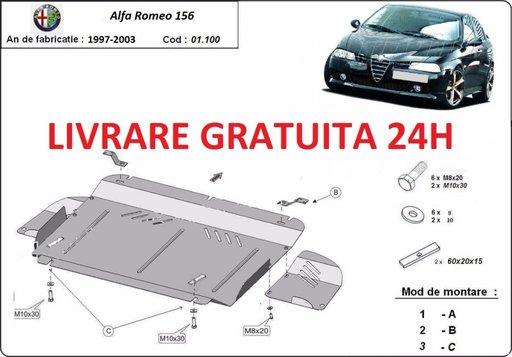 Scut motor metalic otel 2mm Alfa Romeo 156 1997-2005 COD: 01.100.