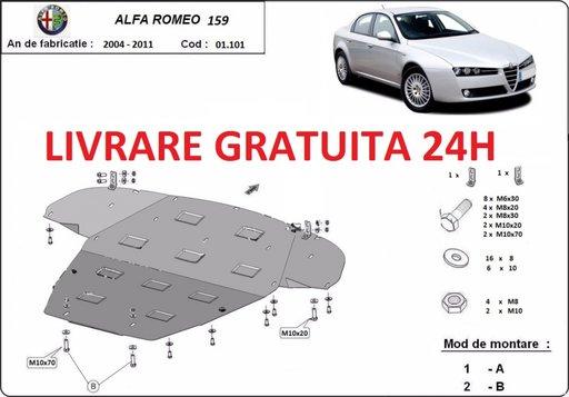 Scut motor metalic otel 2mm Alfa Romeo 159 2004-2012 COD:01.101