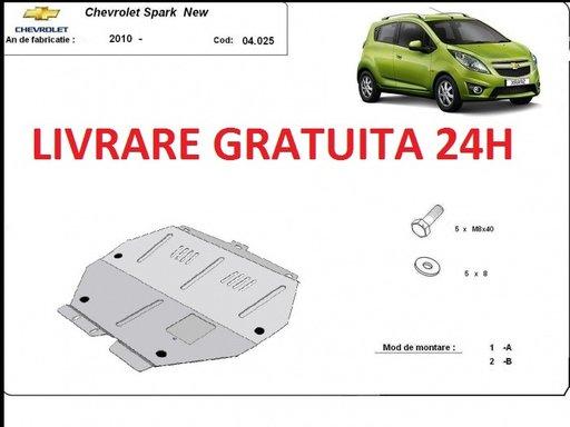 Scut motor metalic otel 2mm Chevrolet Spark II 2009-prezent COD:04.025