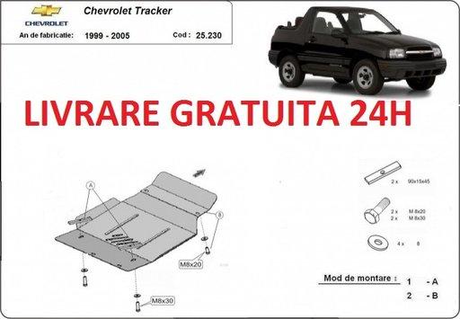 Scut motor metalic otel 2mm Chevrolet Tracker 1999-2005 COD: 25.230