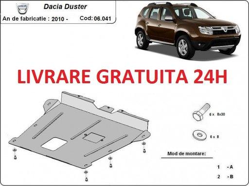 Scut motor metalic otel 2mm Dacia Duster 2010- PREZENT COD: 06.041