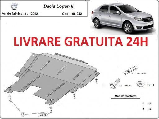 Scut motor metalic otel 2mm Dacia Logan 2012 - PREZENT COD: 06.042