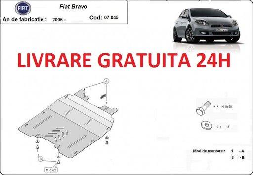 Scut motor metalic otel 2mm Fiat Bravo 2006-PREZENT COD: 07.045