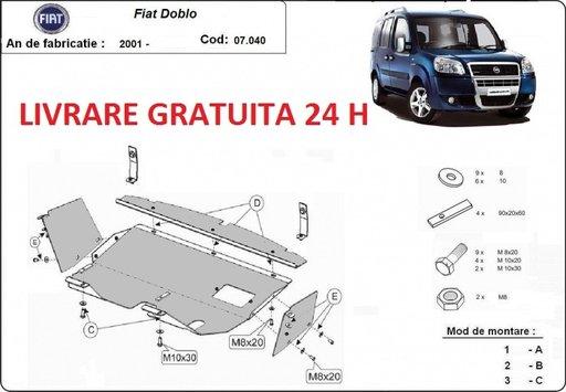 Scut motor metalic otel 2mm Fiat Doblo 2001-2010 COD: 07.040