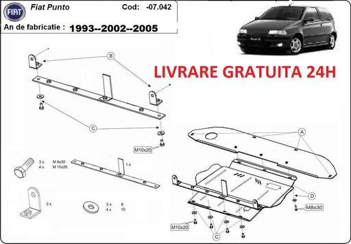 Scut motor metalic otel 2mm Fiat Punto 1993-2009 COD: 07.042
