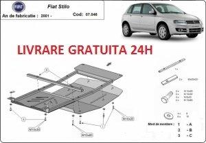 Scut motor metalic otel 2mm Fiat Stilo 2001 - 2010 COD: 07.046