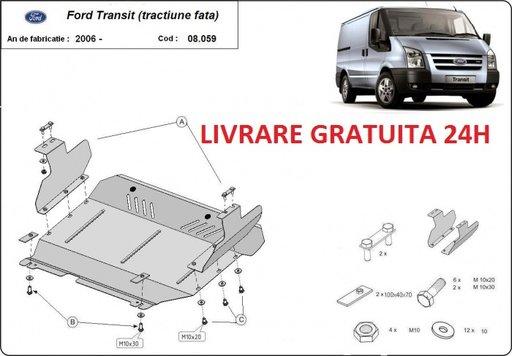 Scut motor metalic otel 2mm Ford Transit 2007-2013 tractiune fata COD:08.059