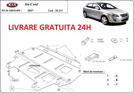 Scut motor metalic otel 2mm Kia Ceed 2007 - 2011 COD:30.211