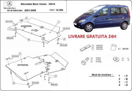 Scut motor metalic otel 2mm Mercedes Vaneo W414 2000-2006 COD:14.084