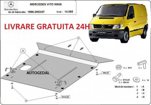 Scut motor metalic otel 2mm Mercedes Vito 1996 - 2003 COD:14.085
