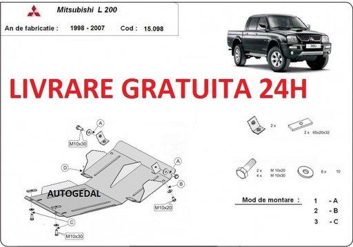 Scut motor metalic otel 2mm Mitsubishi L200 1998 - 2007 COD:15.098