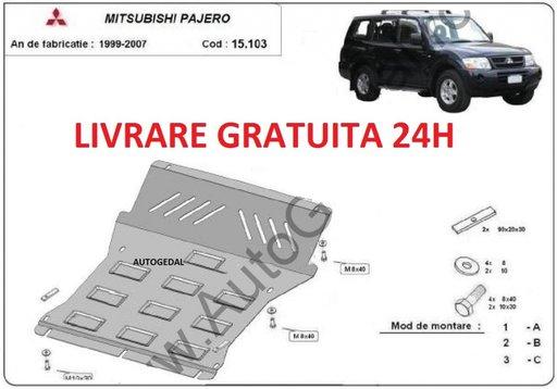 Scut motor metalic otel 2mm Mitsubishi Pajero 3 (V60, V70) Vers 2.0 1998-2007 COD:15.103