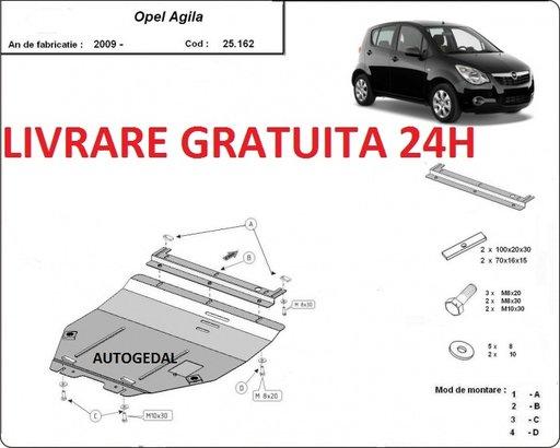Scut motor metalic otel 2mm Opel Agila 2008-prezent COD:25.162