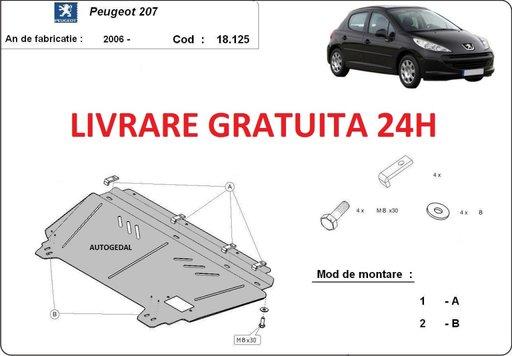 Scut motor metalic otel 2mm Peugeot 207 2006-prezent COD:18.125