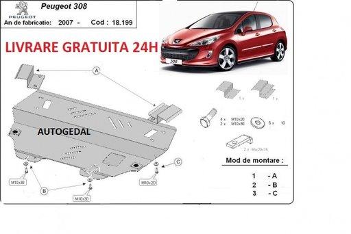Scut motor metalic otel 2mm Peugeot 308 2007-prezent COD:18.199