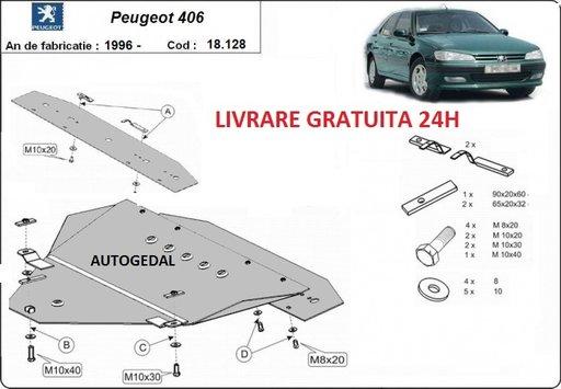 Scut motor metalic otel 2mm Peugeot 406 1996-2004 COD:18.128