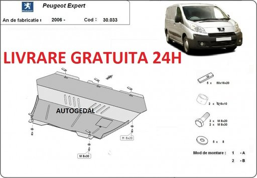 Scut motor metalic otel 2mm Peugeot Expert 2006-2016 COD:30.033