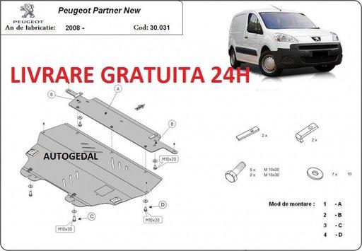 Scut motor metalic otel 2mm Peugeot Partner 2008-prezent COD:30.031