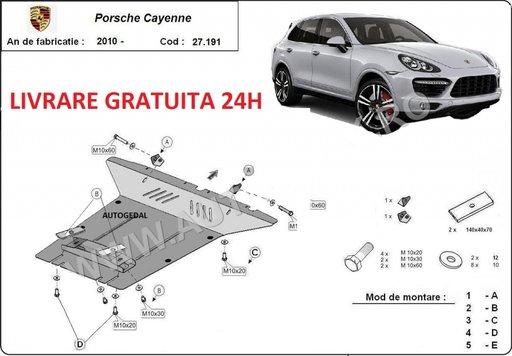 Scut motor metalic otel 2mm Porsche Cayenne 2010-prezent COD:27.191