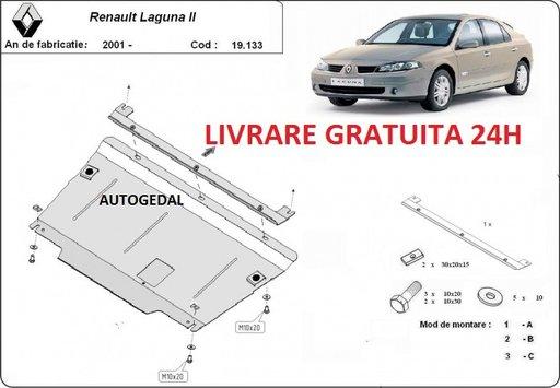 Scut motor metalic otel 2mm Renault Laguna 2 2001-2007 COD:19.133